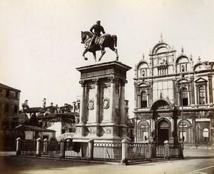 Italy Venice Venezia General Colleoni Monument old Photo Paolo Salviati 1880