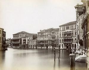 Italy Venice Venezia Foscari Palace old Photo Paolo Salviati 1880