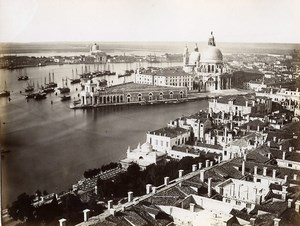 Italy Venice Venezia Panorama old Photo Paolo Salviati 1880