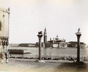 Italy Venice Venezia Piazzetta old Photo Paolo Salviati 1880