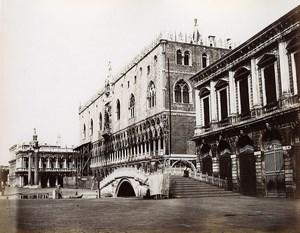 Italy Venice Venezia Ducal palace bridge old Photo Paolo Salviati 1880
