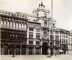 Italy Venice Venezia Clock Tower old Photo Paolo Salviati 1880