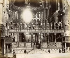 Italy Venice Venezia Basilica di San Marco interior Photo Paolo Salviati 1880