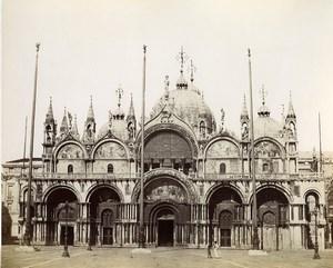 Italy Venice Venezia Basilica di San Marco Façade Photo Paolo Salviati 1880