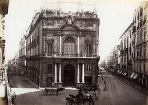 Italie Naples Napoli via Roma Ancienne Photo Giorgio Sommer 1870