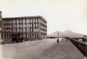 Italie Naples Napoli Hotel Royal des Etrangers Ancienne Photo Giorgio Sommer 1870