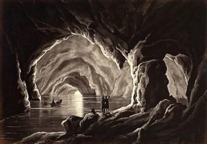 Italy Naples Napoli Capri Grotta Azzurra Blue cave old Photo Giorgio Sommer 1870