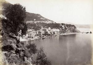 Italie Amalfi panorama Ancienne Photo Giorgio Sommer 1870