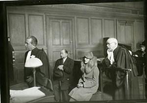 France Paris Justice Criminologie Avocat José Théry Jenny Dolly Ancienne Photo 1934