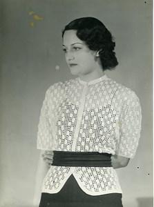 France Paris Mode Feminine Henry a la Pensee Ancienne Photo 1939