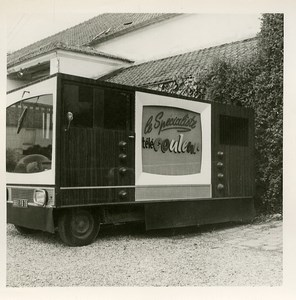 France Calais 25th Trade Fair Advertising Truck for Color TV old Photo Lot 1964