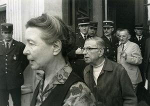 France Simone Beauvoir Jean Paul Sartre la Cause du Peuple Trial old Photo 1970