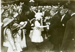 France Le Havre reception du President Raymond Poincaré  Ancienne Photo 1914