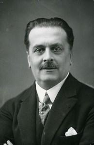 France Paris Mr Guillet director of Ecole Centrale School old Photo 1919