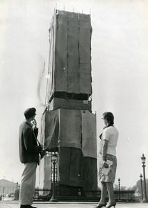 France Paris Place de la Concorde Obelisk wrapped old Photo 1963
