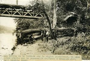 France Boulogne Billancourt Tornado footbridge on the Avre old Photo 1935