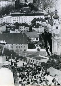 Austria Innsbruck Bergisel Winter Olympics Ski Jump old Photo 1964