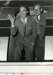 France Boxing Marcel Cerdan and manager Lucien Roupp old Photo 1949