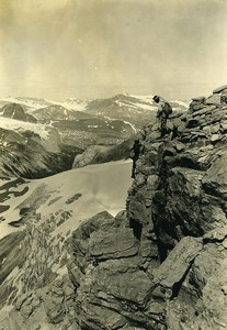 Canada Rockies Mountain Climbing Yoho District old Photo 1930