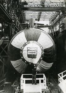 USA Connecticut Groton Lafayette Submarine General Dynamics old Photo 1962