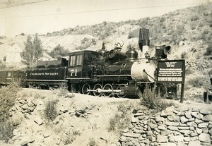 USA Railway Colorado & Southern Steam Engine Locomotive old Photo 1950