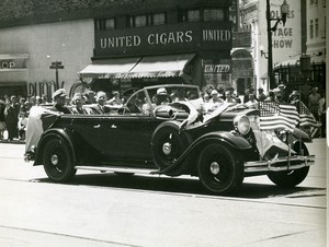 USA San Francisco? Parade Automobile United Cigars Store old Photo 1950's