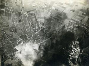Germany Munich WWII Aircraft Smoke Aviation old Photo Aerial View 1944