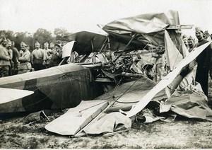 France WWI Vic sur Seille Burthécourt plane crash Florentin SPAD? old Photo 1918