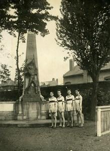 France Roubaix Racing Club Northern Championship War Memorial old Photo 1924