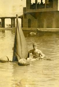 USA Sports Miami Beach Deauville Casino nageuse Gertrude Ederle Ancienne Photo 1926