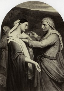 France Painting Artwork Ruth & Noemi by Ary Scheffer old Photo Goupil 1860