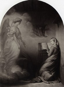 France Painting Artwork The Annunciation by Jalabert Photo Voland Goupil 1860
