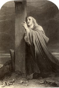 France Virgin at the foot of the cross Paul Delaroche Photo Voland Goupil 1860