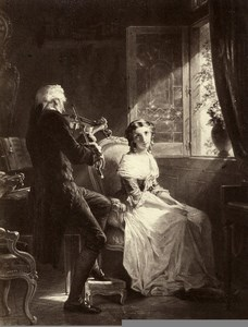 France Painting Artwork Cremona's violin by Ch Muller Photo Voland Goupil 1860