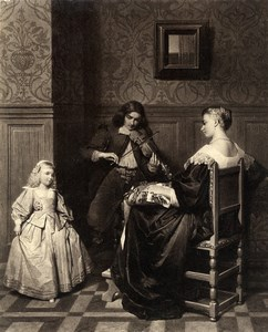 France Painting Artwork The dance lesson by Heilbuth Photo Voland Goupil 1860
