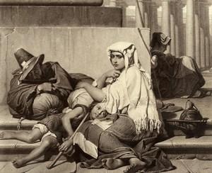 France Peinture Oeuvre d'Art Les pélerins par Paul Delaroche Ancienne Photo Voland Goupil 1860