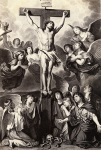 France Painting Artwork Christ on the cross old Photo Goupil? 1860