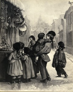 France Painting Artwork The Toy Shop old Photo Goupil? 1860