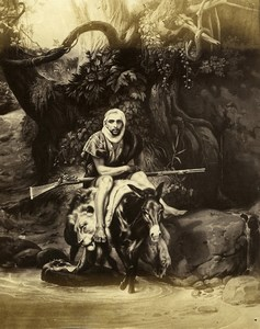 France Painting Artwork Orientalist scene by Horace Vernet old Photo Goupil 1860