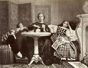 France Painting Artwork House of cards by A Toulmouche Photo Voland Goupil 1860