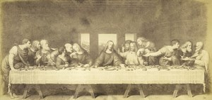 Germany Painting Artwork the Last Supper old Photo Albert 1855