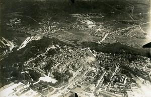 Nord ? De la France WWI vue aérienne Riviere Cathedrale? Ancienne Photo 1918
