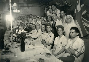 France WWII Paris Hospital Saint Louis War Wounded old Photo 1945
