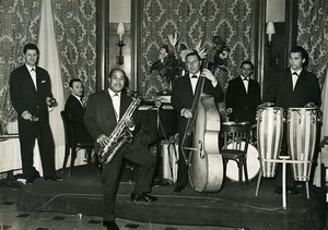 France Savigny sur Orge Emilio Clotilde and his musicians Jazz? Old Photo 1950