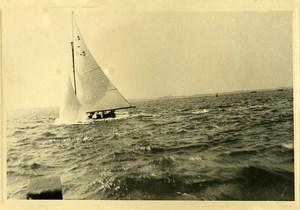 France Seaside sailing Sailboat old Photo 1930's