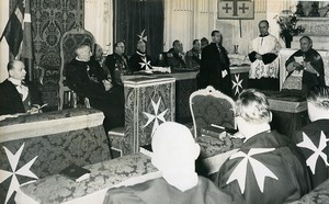 Italy Roma Election of the Grand Master of the Order of Malta old Photo 1955