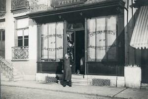 France Région parisienne Boutique de peintre en lettres Devanture Ancienne Photo 1890