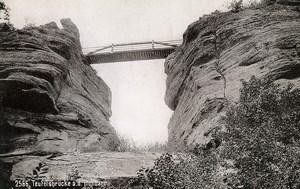 France Alsace Haut-Barr Pont du Diable Bridge old Lautz Photo Cabinet Card 1896
