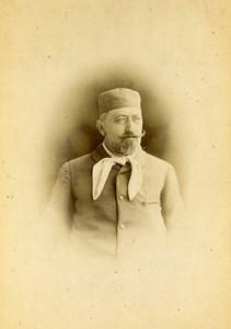 Algerie Alger le Docteur Roussot Portrait Moustache Ancienne Photo 1890