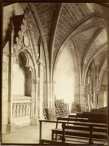 Espagne Burgos interieur de l'église de San Nicolàs Ancienne Photo 1880